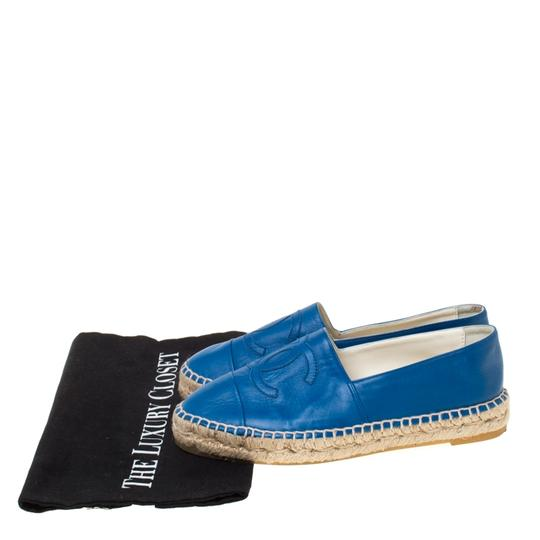 Chanel Leather Blue Flats Image 7