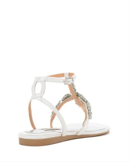 Badgley Mischka White Crystal Sandals Size US 8 Regular (M, B) Image 1
