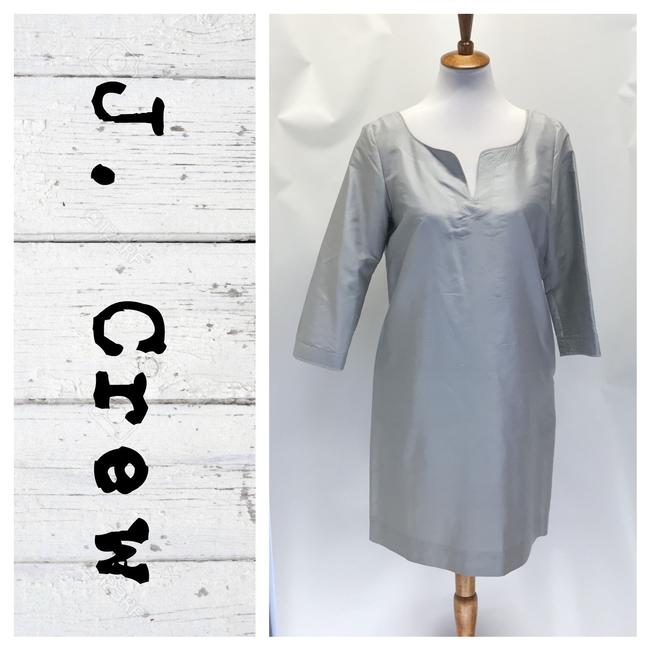 Item - Silver Mid-length Cocktail Dress Size 6 (S)