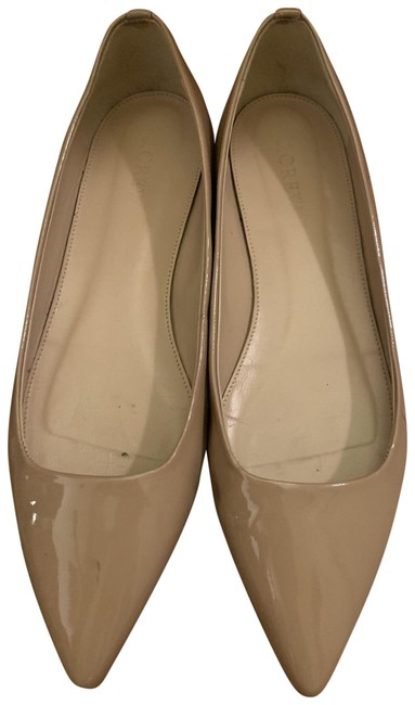 Item - Nude Patent Pointed-toe Flats Size US 8.5 Regular (M, B)