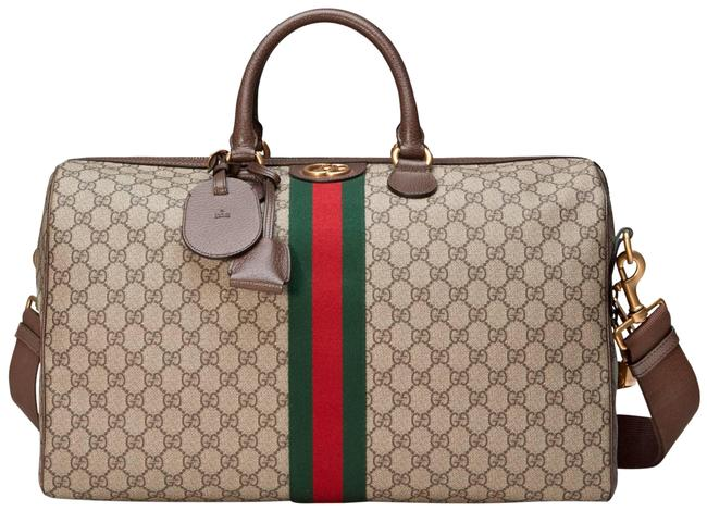 Item - Duffle Ophidia Medium Web Gg Supreme Carry-on Multicolor Canvas Leather Weekend/Travel Bag