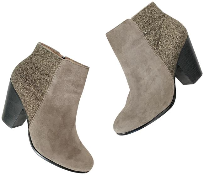 Item - Gray Gold Hariza Glittery Suede Ankle Boots/Booties Size US 9.5 Regular (M, B)