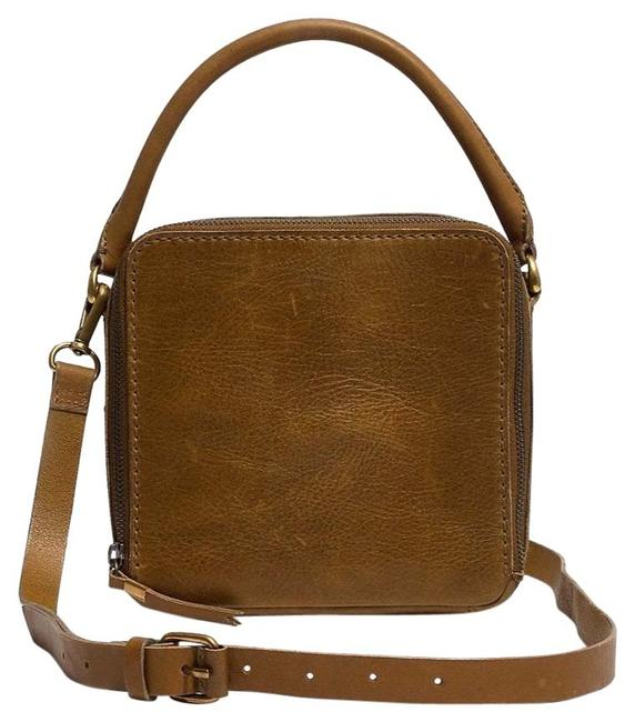 Item - The Square Satchel Olive Leather Cross Body Bag