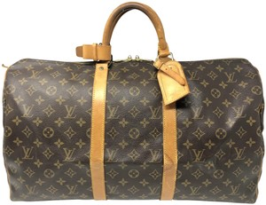 Louis Vuitton Keepall Keepall 50 Duffle Keepall Monogram Travel Bag