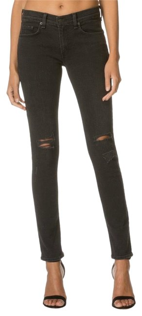 Item - Rock Distressed Mid Rise Skinny Jeans Size 0 (XS, 25)