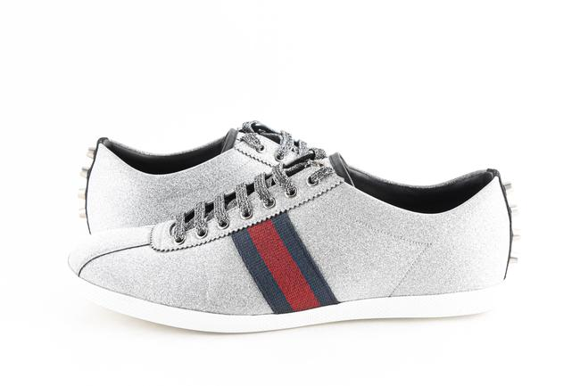 Item - Silver Bambi Web Low-top Sneakers with Stud Detail Shoes