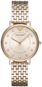 Emporio Armani Emporio Armani Pale Pink Tone Stainless Steel Women's Watch AR11062