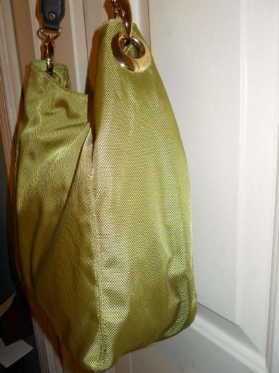 Alfani Leather Canvas Hobo Bag