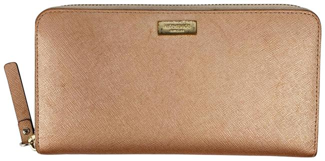 Item - Newbury Ln Lena Saffiano Zip Around Wallet Rose Gold Leather Clutch