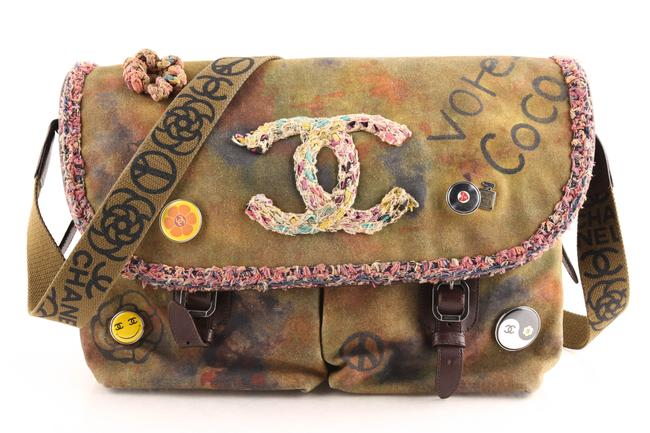Item - Graffiti On The Pavement Limited Edition Khaki Canvas Messenger Bag