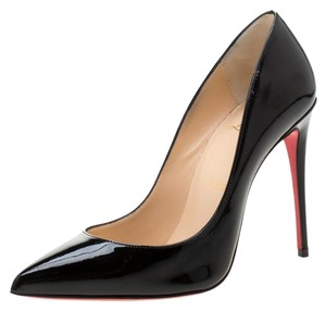 Christian Louboutin Patent Leather Pigalle Pointed Toe Black Pumps