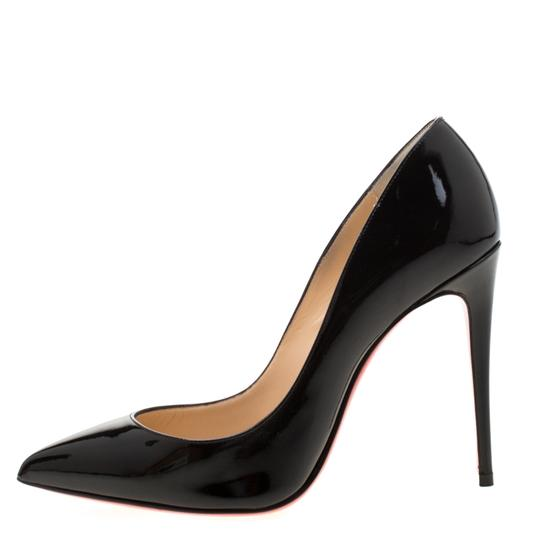 Christian Louboutin Patent Leather Pigalle Pointed Toe Black Pumps Image 1