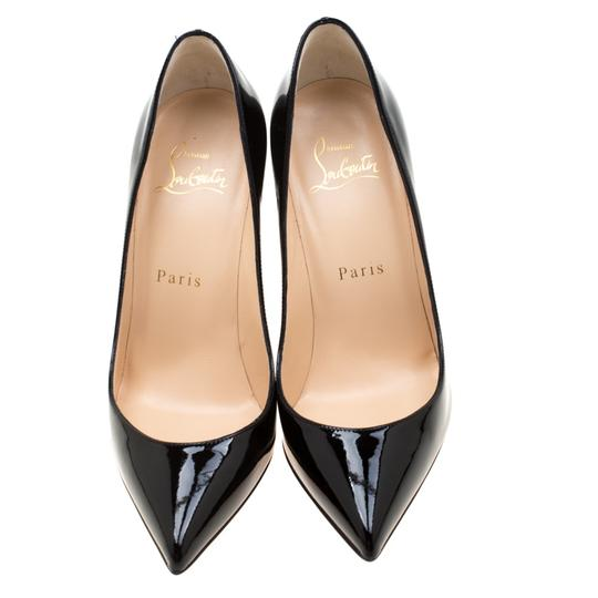 Christian Louboutin Patent Leather Pigalle Pointed Toe Black Pumps Image 2