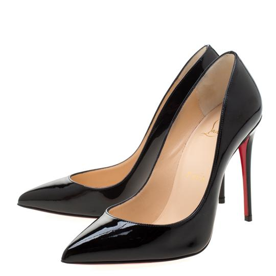 Christian Louboutin Patent Leather Pigalle Pointed Toe Black Pumps Image 3