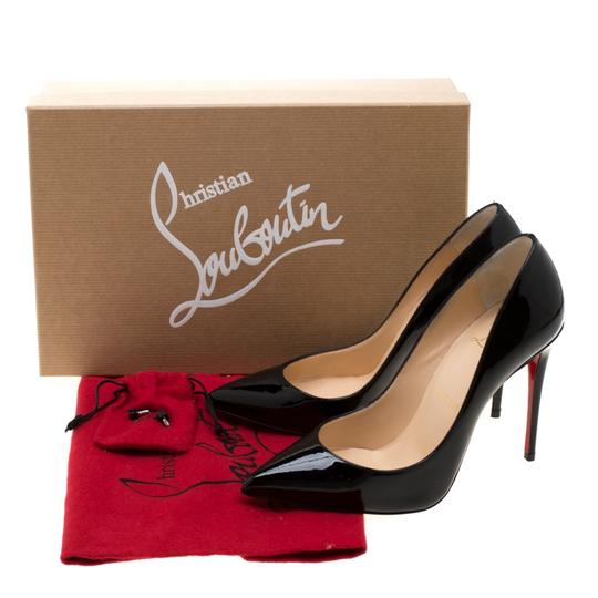 Christian Louboutin Patent Leather Pigalle Pointed Toe Black Pumps Image 7