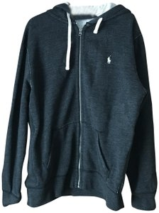 Polo Ralph Lauren Men's Xl Thermal Hoodie Fleece Lining Logo Cotton/Polyester Charcoal Grey Jacket