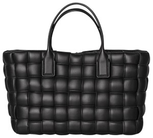 Bottega Veneta Cabat Intrecciatto Woven Tote in Black