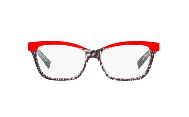 Item - 001 Black Red A03037 Acetate Cat Eye Sunglasses