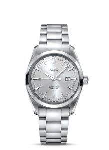 Omega Ladies' Omega Aqua Terra 2577.30 Stainless Steel Quartz Date 29MM