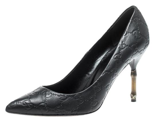 Preload https://img-static.tradesy.com/item/26279900/gucci-black-guccissima-leather-bamboo-heel-pointed-pumps-size-eu-385-approx-us-85-regular-m-b-0-1-540-540.jpg