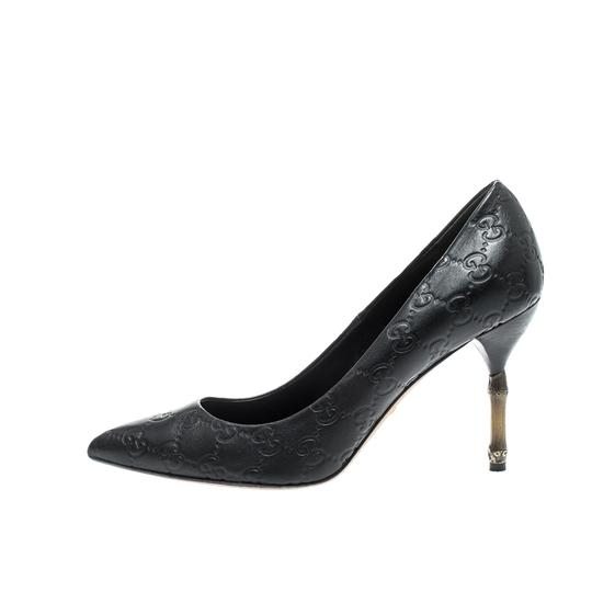 Gucci Leather Pointed Toe Black Pumps Image 1