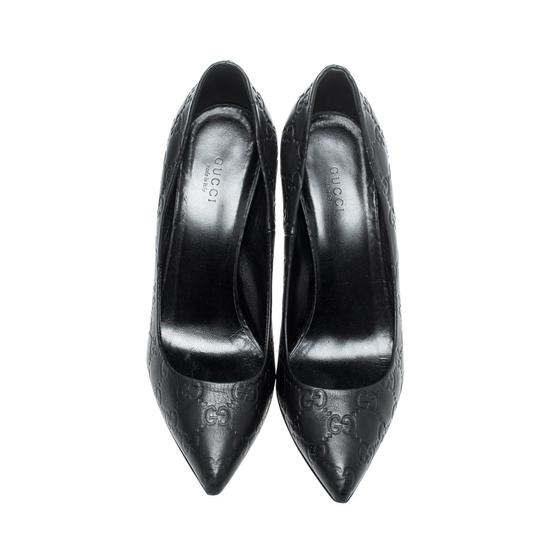 Gucci Leather Pointed Toe Black Pumps Image 2