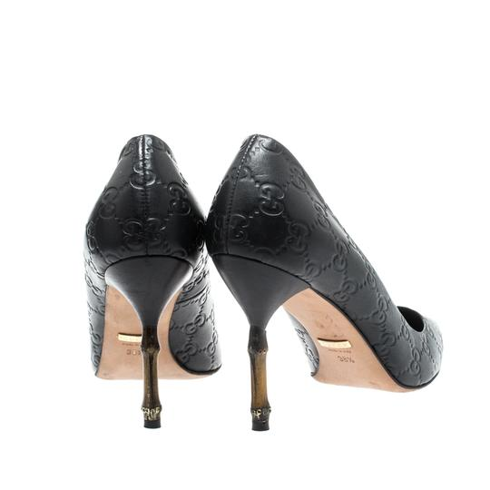 Gucci Leather Pointed Toe Black Pumps Image 3