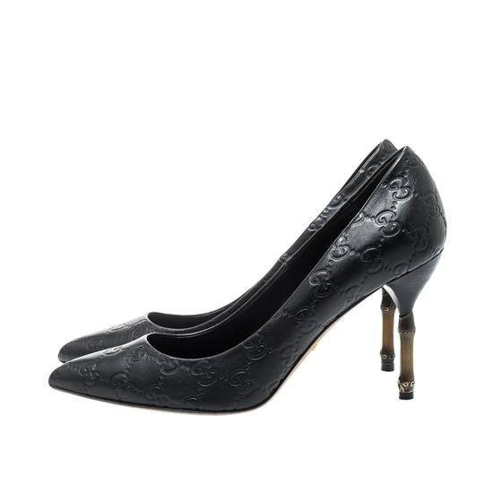 Gucci Leather Pointed Toe Black Pumps Image 4