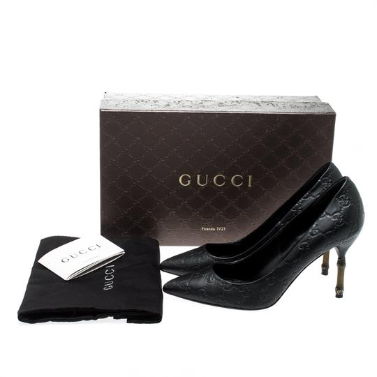 Gucci Leather Pointed Toe Black Pumps Image 7