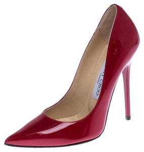 Jimmy Choo Patent Leather Pointed Toe Red Pumps
