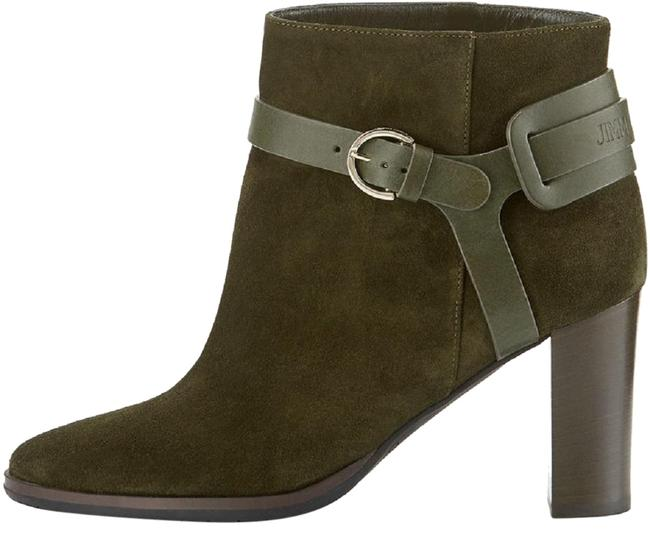 Item - Army Green Hose Suede 80mm Boots/Booties Size US 7.5 Regular (M, B)