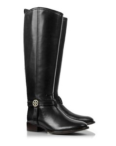 Tory Burch Riding Bristol Leather 8 Coconut Boots