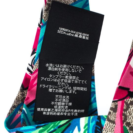 Gucci Multicolor Monogram and Floral Print Silk Twisted Headband Image 3