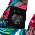 Gucci Multicolor Monogram and Floral Print Silk Twisted Headband Image 5