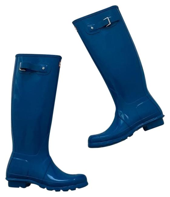 Hunter Ocean Blue Boots/Booties Size US 8 Regular (M, B) Hunter Ocean Blue Boots/Booties Size US 8 Regular (M, B) Image 1