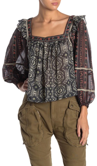 Item - Multicolor XS Mostly Meadow Mixed Print Blouse Size 2 (XS)