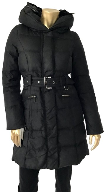Item - Black XS Woman Down Puffer Belted Jacket Coat Size 2 (XS)