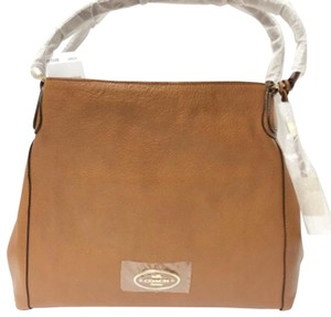 Coach 33547 Tan Edie Refined Leather Shoulder Bag