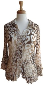 Splendor Button Down Shirt Brown