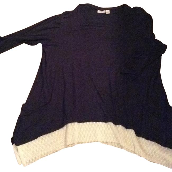 Item - Navy with White Trim Tunic Size 16 (XL, Plus 0x)