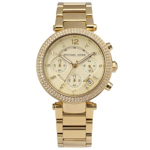 Michael Kors Parker Stainless Steel Pave Crystal Chronograph MK5354 Watch