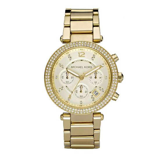 Michael Kors Parker Stainless Steel Pave Crystal Chronograph MK5354 Watch Image 7