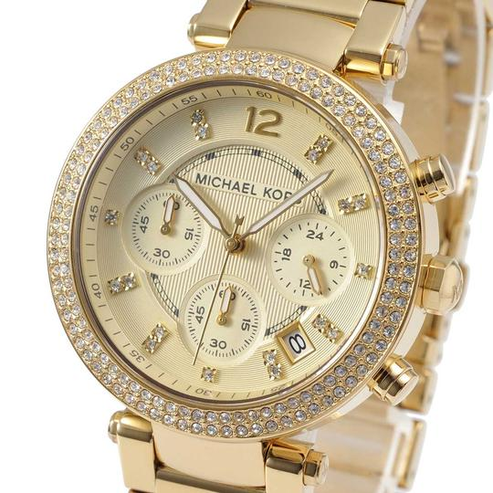 Michael Kors Parker Stainless Steel Pave Crystal Chronograph MK5354 Watch Image 8