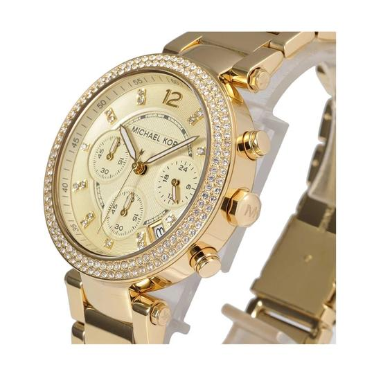 Michael Kors Parker Stainless Steel Pave Crystal Chronograph MK5354 Watch Image 9