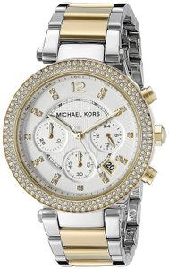 Michael Kors Parker Two Tone Stainless Steel Crystal Glitz Chronograph MK5626 Watch