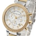 Michael Kors Parker Two Tone Stainless Steel Crystal Glitz Chronograph MK5626 Watch Image 1
