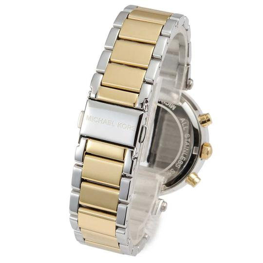 Michael Kors Parker Two Tone Stainless Steel Crystal Glitz Chronograph MK5626 Watch Image 4