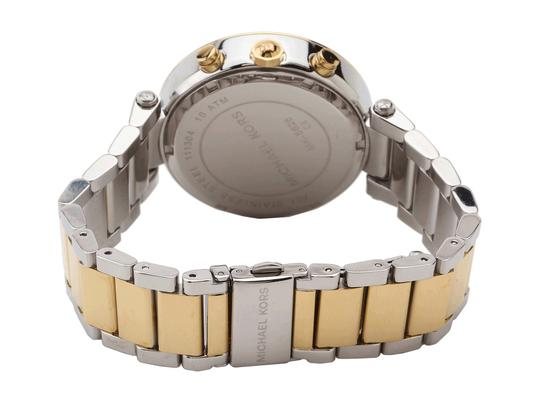 Michael Kors Parker Two Tone Stainless Steel Crystal Glitz Chronograph MK5626 Watch Image 9