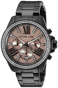 Michael Kors Wren Stainless Steel Champagne Pave Crystal Chronograph MK5879 Watch