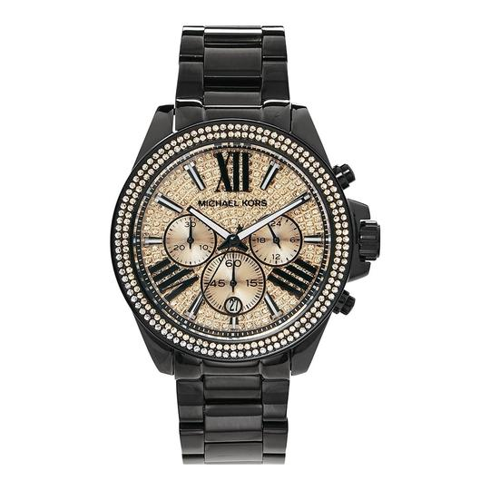 Michael Kors Wren Stainless Steel Champagne Pave Crystal Chronograph MK5879 Watch Image 4